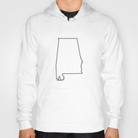 alabama Hoodies featuring Alabama by mrTidwell