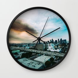 Fire in the air Wall Clock