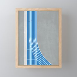 Finish Line Sprinter  Framed Mini Art Print