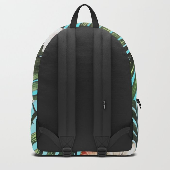 Palm leaves and flowers Backpack