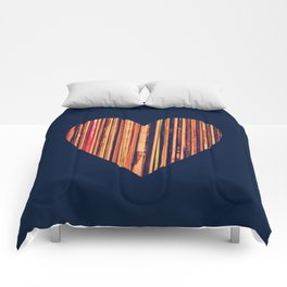 Valentine's Day Vinyl Records Heart Hipster Comforters