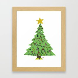 2015 Christmas Tree Framed Art Print