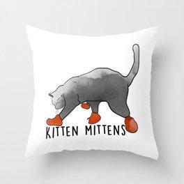 KITTEN MITTENS Throw Pillow
