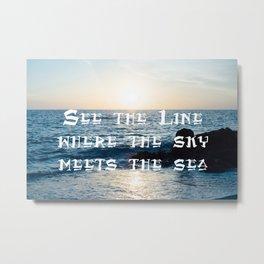 Sky Meets The Sea Metal Print