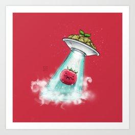 UFO. Italian Spaghetti Dreams Art Print