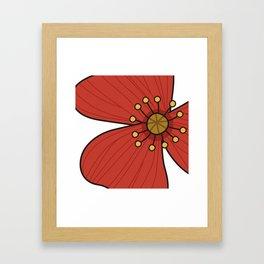 happy poppy Framed Art Print