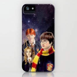 Harry, Hermione and Ron (fanart) iPhone Case