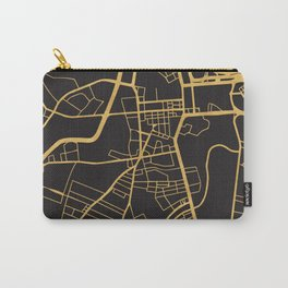 BELFAST NORTHERN IRELAND GOLD ON BLACK CITY MAP Carry-All Pouch