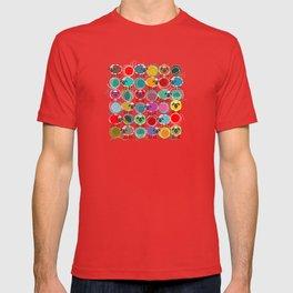 Bright Sheep and Yarn Pattern T-shirt