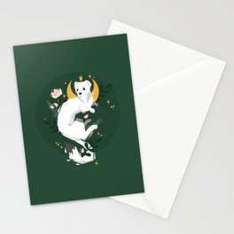 Magic Moon Stoat Stationery Cards
