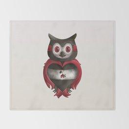 Xavier the Owl Throw Blanket