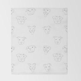 White pit bull love Throw Blanket