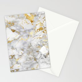 Gold Mine Marble Stationery Cards