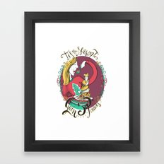 Tis the Season to Gain 5 Pounds Framed Art Print