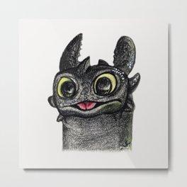 Dragon Toothless Metal Print