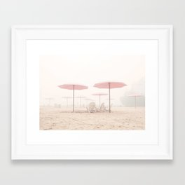 Foggy Beach Framed Art Print