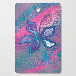 Polynesian Tribal Hibiscus Abstract Cutting Board