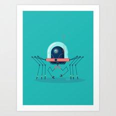 :::Mini Robot-Arachno::: Art Print