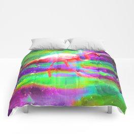 Cosmic Flamingo Comforters