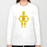 c3po Long Sleeve T-shirts featuring C3PO by Vulgosclub