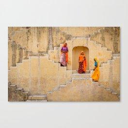 Amber Stepwell, Rajasthan, India Canvas Print
