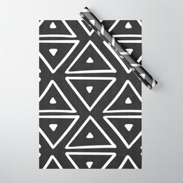 Big Triangles in Black and White Wrapping Paper