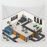 monster inc Wall Tapestries featuring Monster Labs Inc. by Allen Amin