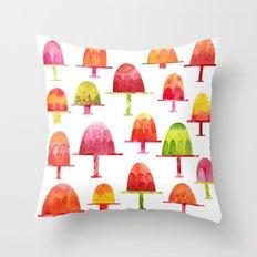 Jellies on Plates Throw Pillow