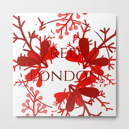 Red London Metal Print