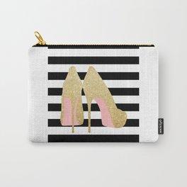 High Heels,Glitter Print,Gold Print,Wall Art,Home Decor,Fashion Illustration,Fashion Print,Gift Idea Carry-All Pouch