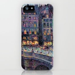 Paris - Le quai Conti along the River Seine by Maximilien Luce iPhone Case