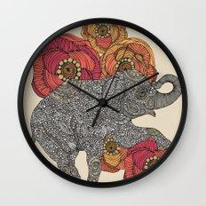 Rosebud Wall Clock