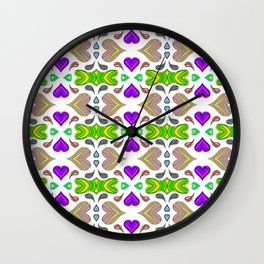 I Heart Color Wall Clock