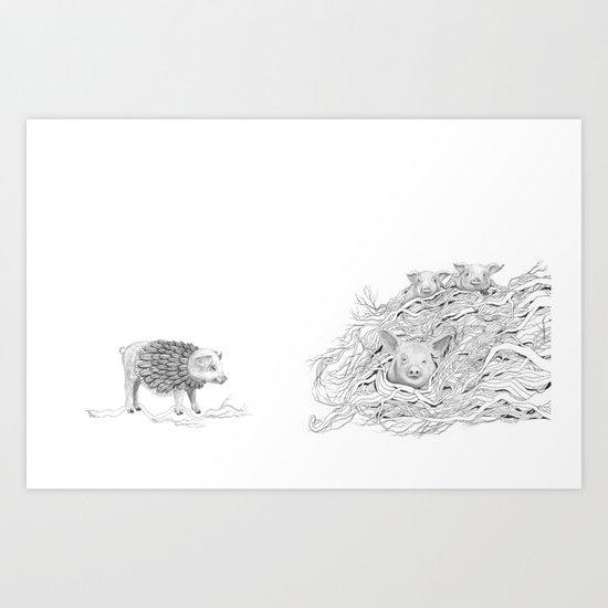 The Pig Pile Art Print