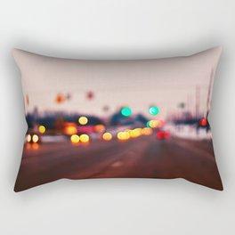 City Lights Bokeh Rectangular Pillow