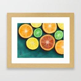 Slices on Slices on Slices of Citruses Framed Art Print