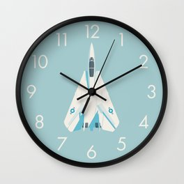 F14 Tomcat Fighter Jet Aircraft - Sky Wall Clock