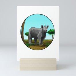 Black Rhino Mini Art Print
