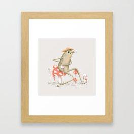 Awkward Toad Framed Art Print
