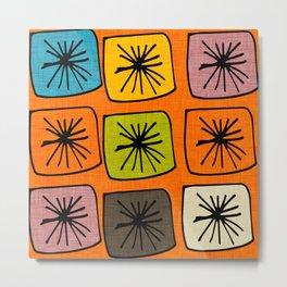 atomic cubes orange Metal Print