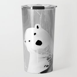 Unique Black and White Polar Bear Design Travel Mug