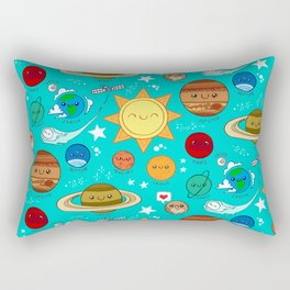 Planet party Rectangular Pillow