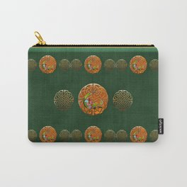 Peacock Celtic Deco Carry-All Pouch