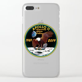 The 50th Anniversary Patch of Apollo 11 Clear iPhone Case