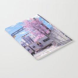 Seoul Anime Train Tracks Notebook
