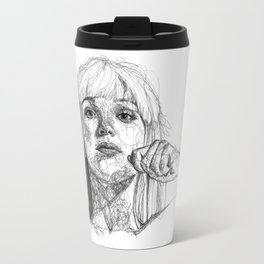 Sia Scribbles (Pen Art) Travel Mug
