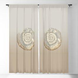 Ammonite Simple Illustration  Blackout Curtain