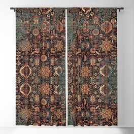 Vintage Traditional Moroccan Rug Blackout Curtain
