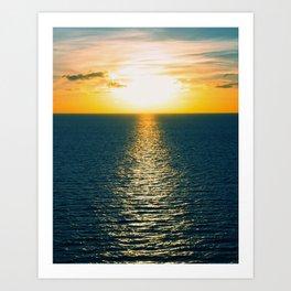 Sunset in July Art Print