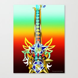 Fusion Keyblade Guitar #68 - Omega Weapon & Ultima Weapon Canvas Print